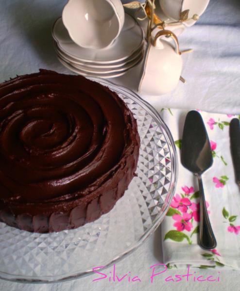 fudge cake con ganache