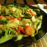 Verdure saltate. Per la gioia di vegetariani e non.