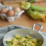 Pasticcio di zucchine e uovo.