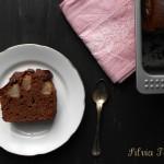 Plumcake con ricotta, pere e cioccolato.