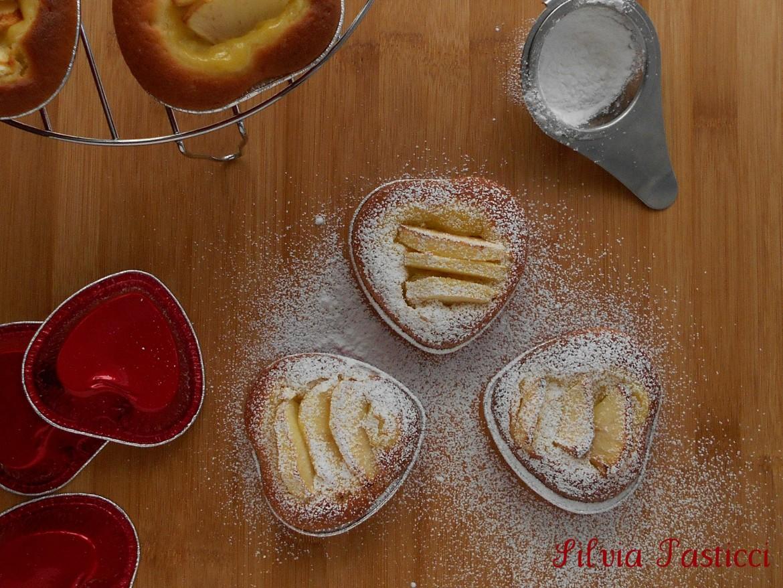 tortine cuore mela