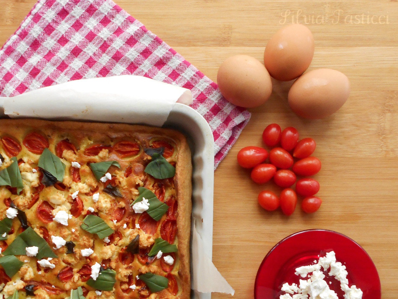 torta-formaggio-capra-pomodorini