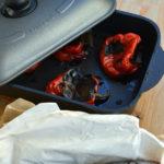 Palamita con salsa di peperoni. Nuggets scherzetto.