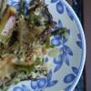 Asparagi e patate al forno.